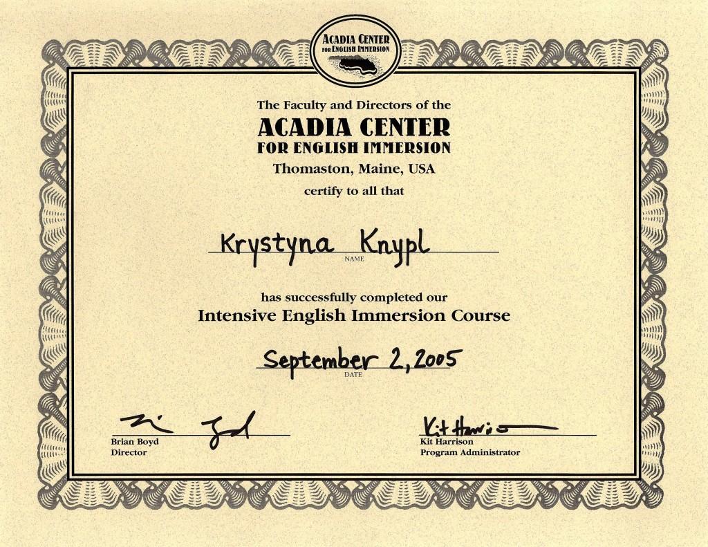 Acadia_Center_Certificate